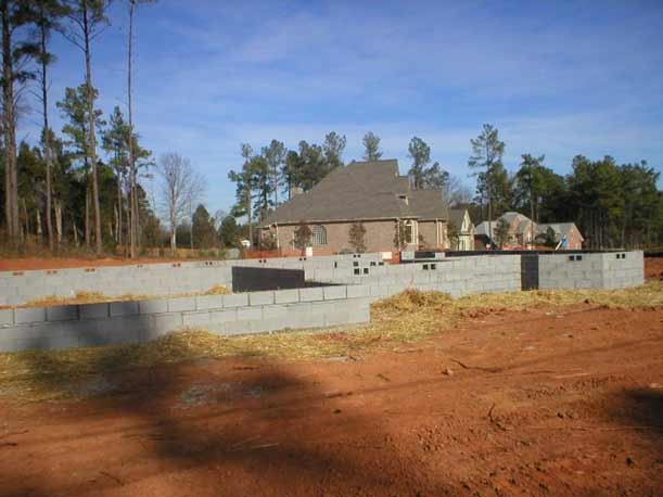 Full Concrete Block Foundation