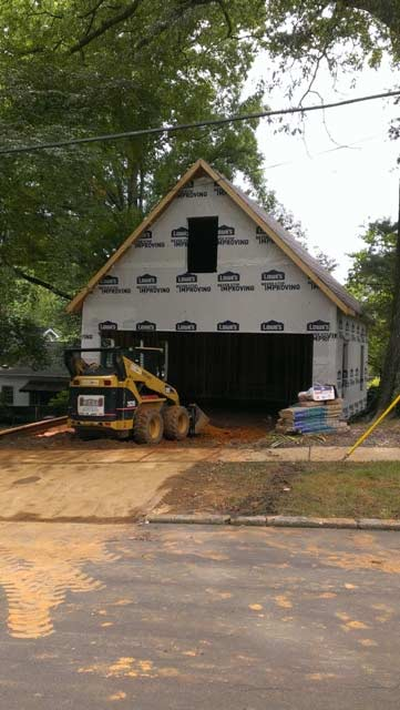 Garage Build on Dellwood Ave
